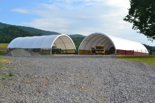 hoop buildings fabric barns stream silver shelters