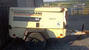 185 CFM diesel air compressor rental